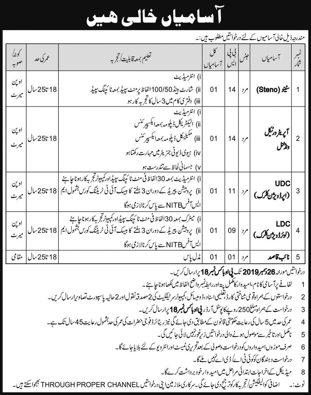 Public Sector Organization PO Box 18 Clerical Staff Jobs 2020