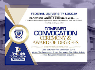 FULOKOJA 3rd & 4th Convocation Ceremony Programme of Events