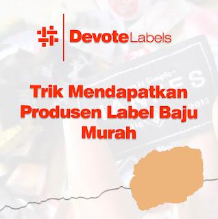 Produsen Label Baju Murah