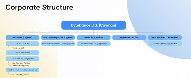 struktur perusahaan TIKTOK