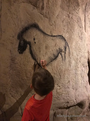 Höhlenmalerei im Museum
