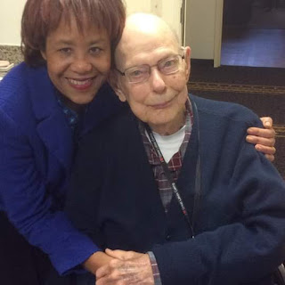 Roy Burgess, mystery artist, with NIRMV originator Darlene House.