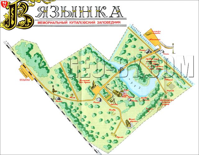 Туристическая карта Вязынки