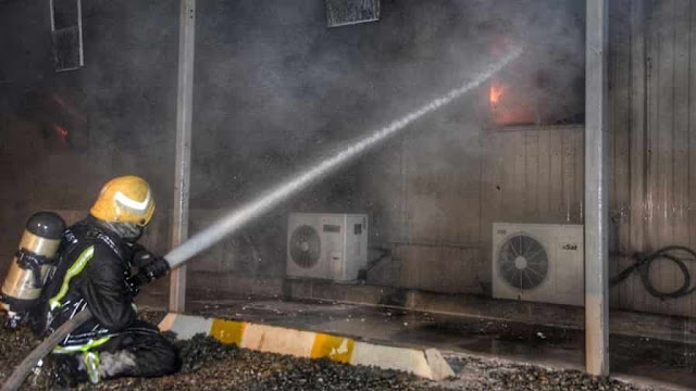 Fire broke out at Administrative Offices at Jeddah Haramain Railway station - Saudi-Expatriates.com
