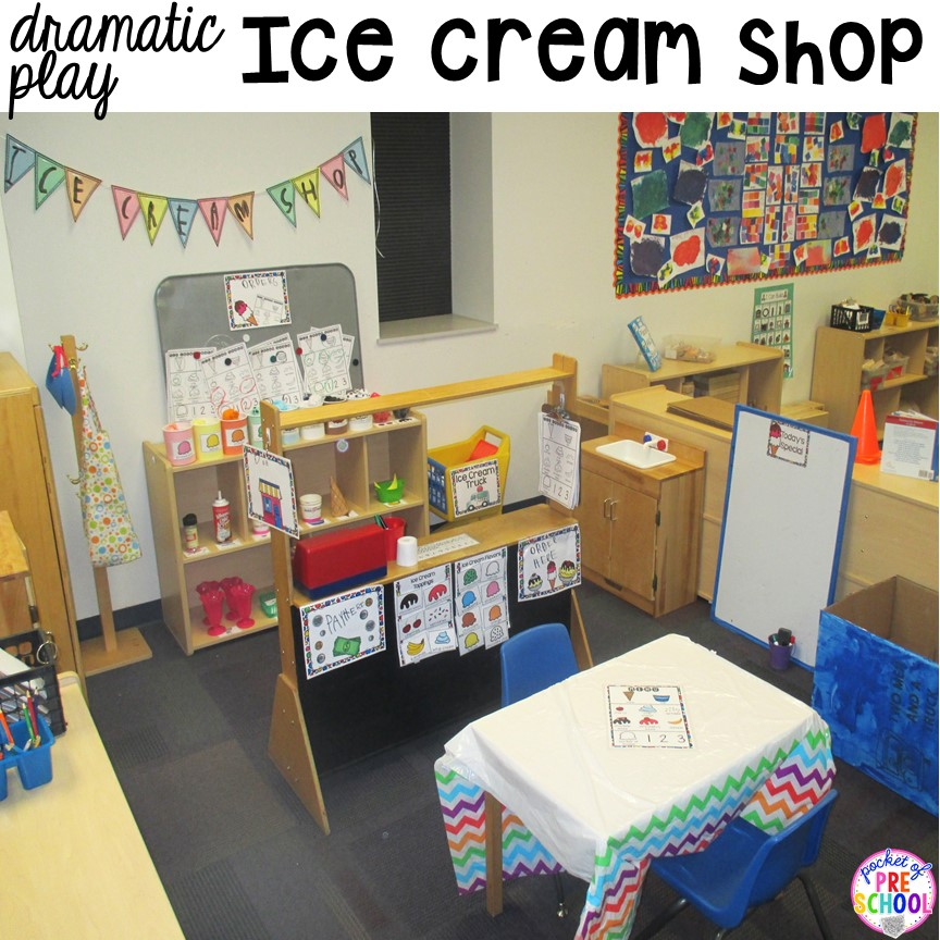 Classroom Center Ideas ~ How to set up the dramatic play center in an early