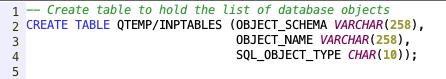 Create Table - IBM i