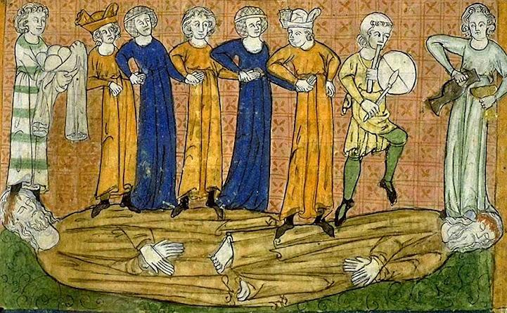 Os homens comemorarão a morte dos enviados de Deus. Bibliothèque municipale de Toulouse