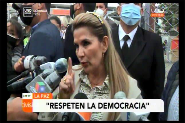 Presidenta Áñez al MAS: No provoquen, vamos a hacer respetar el voto ciudadano
