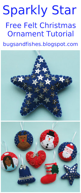 felt star ornament tutorial