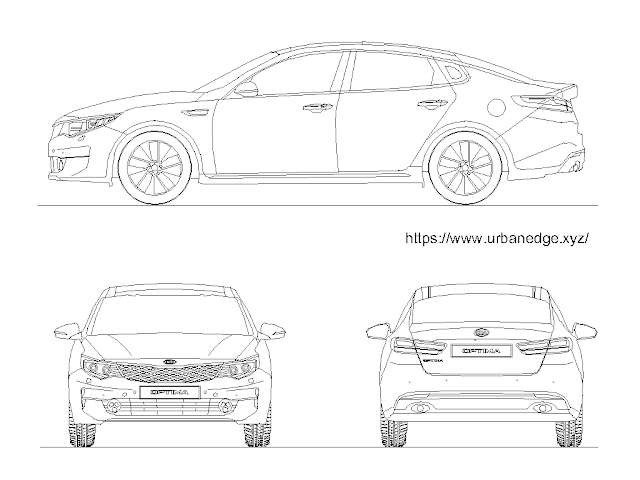 Car dwg autocad block free download - Kia Optima