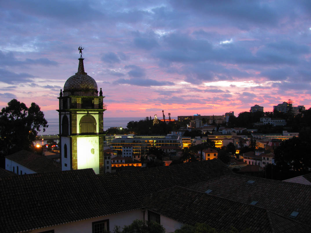 sunset with Santa Clara convent
