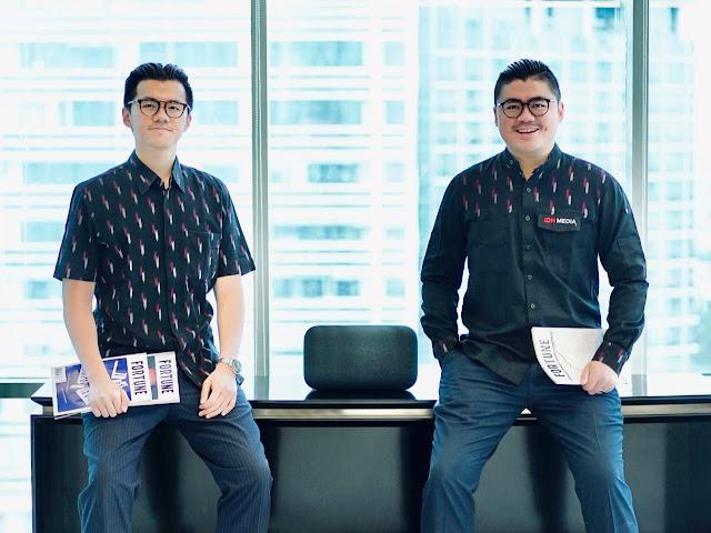 Majalah Fortune Indonesia dalam genggaman COO IDN Media, Willian Utomo dan CEO IDN Media, Winston Utomo