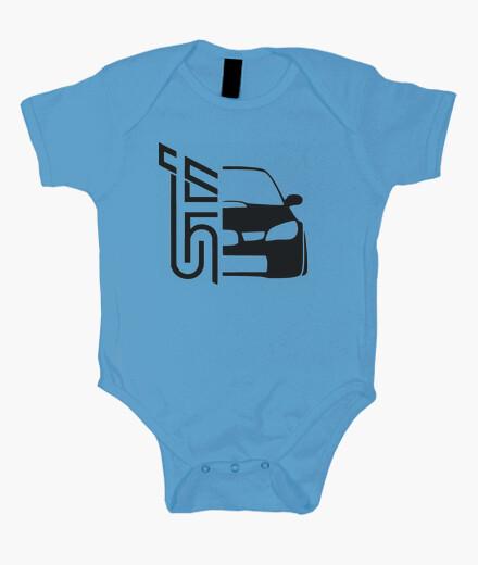 Bodies Bebé - Diseño Subaru STI (negro)