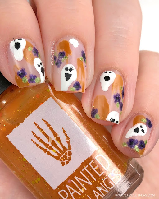 Abstract Halloween Nails