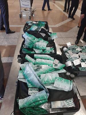ضبط أدوية بشرية متنوعة بحوزة مسافر صيني