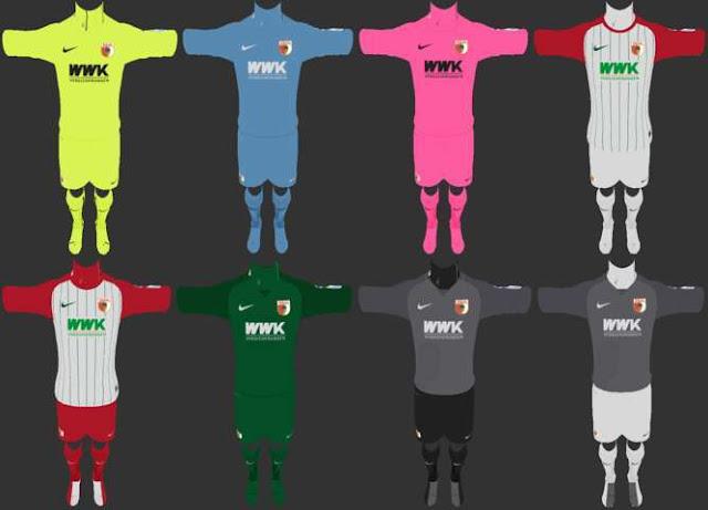 FC Augsburg 2017-18 Full Kit PES 2013