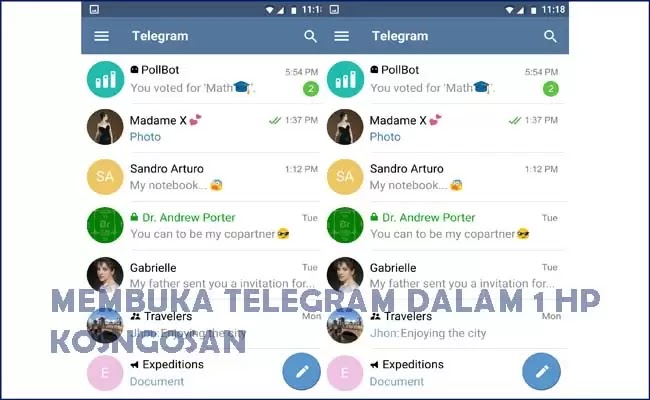 membuka akun telegram