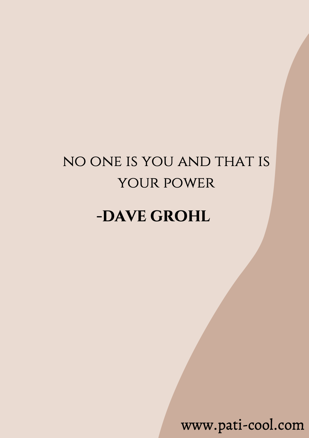 quotes, quote of the day, qotd, David Grohl, Nirvana, musician words