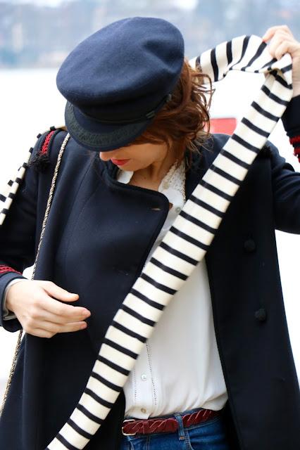 écharpe marinière mateau casquette marin