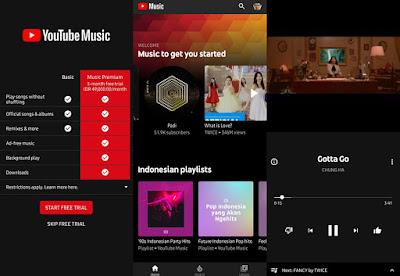 Review Menggunakan Aplikasi Youtube Music Pemutar Musik Online Terbaru