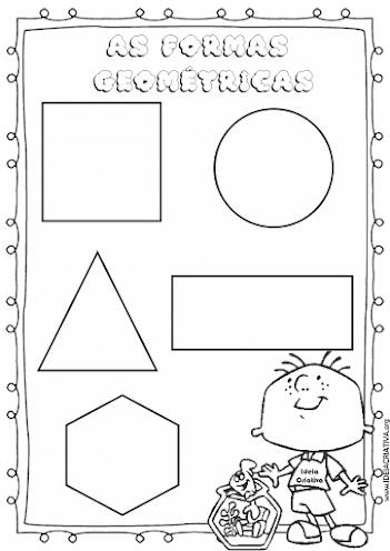 Atividade Formas Geométricas para imprimir e colorir