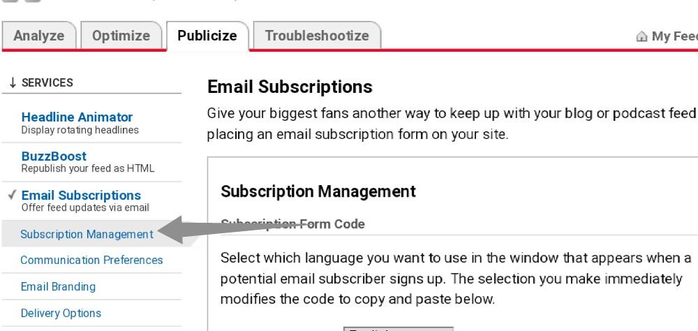 backup FeedBurner subscribers email list step-5