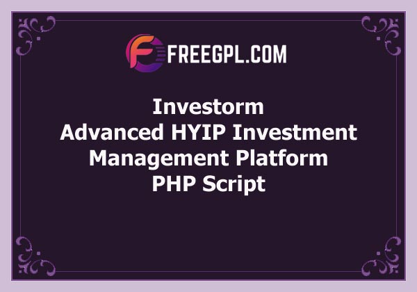 Investorm – Advanced HYIP Investment Management Platform Free Download