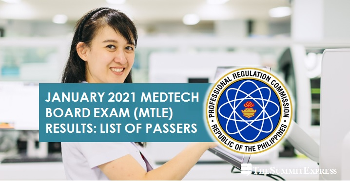 MTLE RESULTS: January 2021 Medtech board exam passers