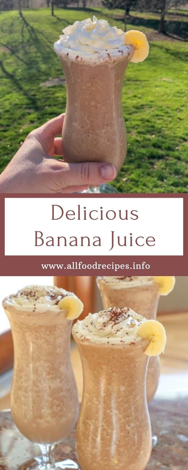 Delicious Banana Juice