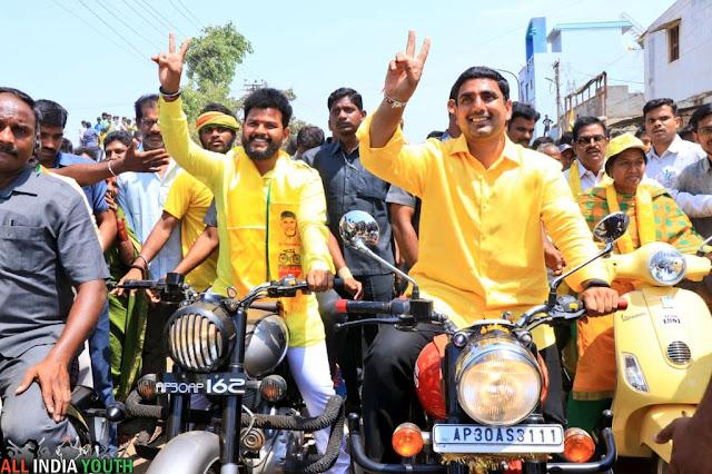 Ram Mohan Naidu driving with nara lokesh