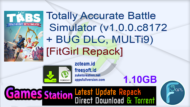 Totally Accurate Battle Simulator (v1.0.0.c8172afe58.0 + BUG DLC, MULTi9) [FitGirl Repack]