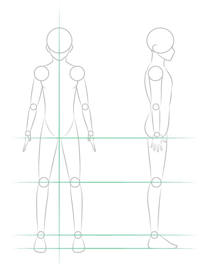 Menggambar struktur kaki cowok anime