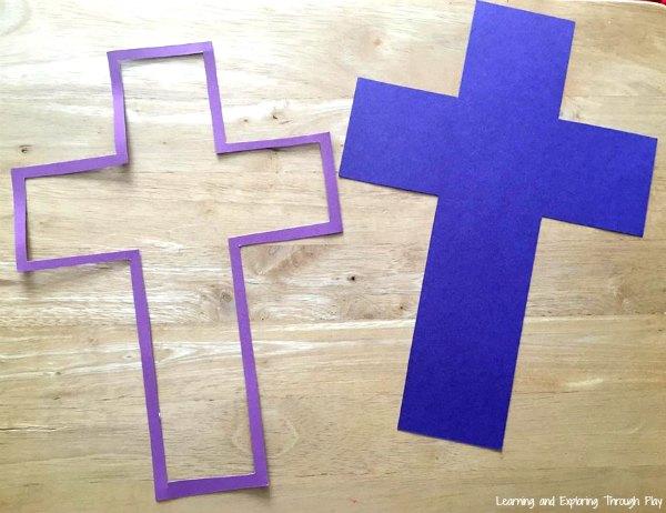 Cross Suncatcher Craft - Easter Crafts for Kids