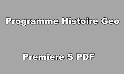 Programme Histoire Geo Premiere S PDF
