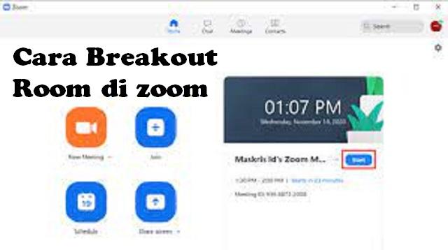 Cara Membuat Breakout Room di Zoom