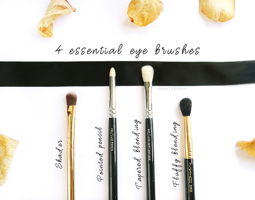 4 Must-Have Eyeshadow Brushes that are essential for beginners