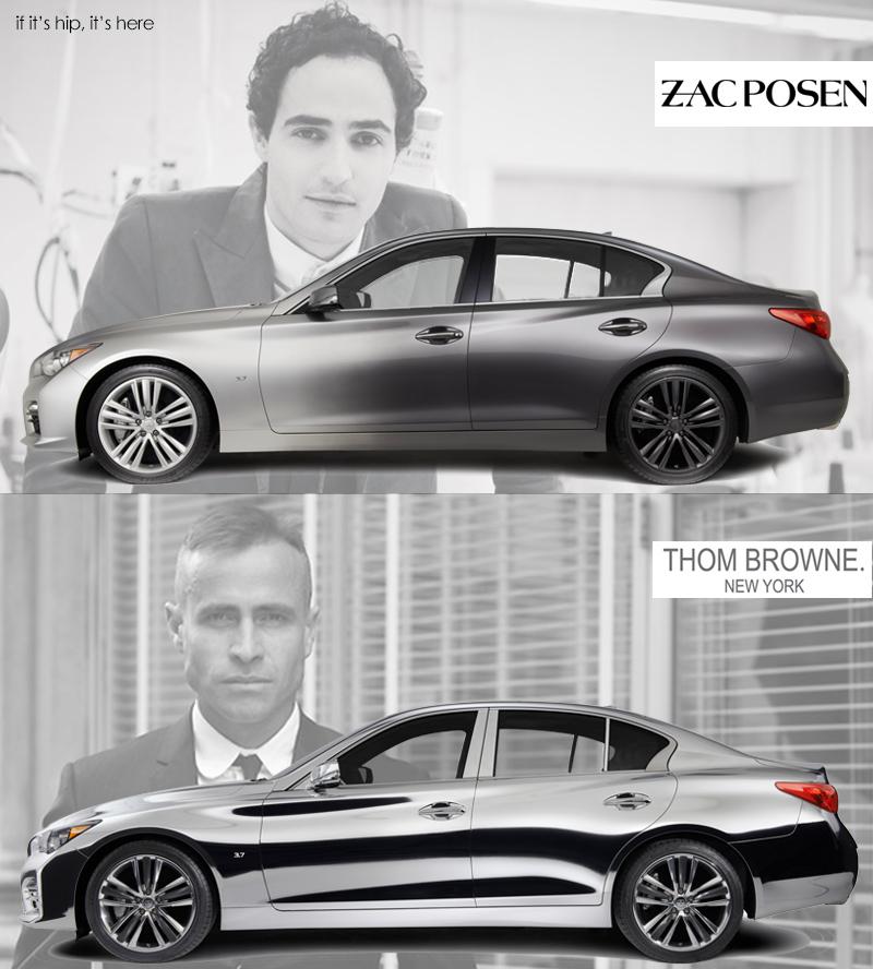 Thom Browne and Zac Posen Custom Infiniti Q50s