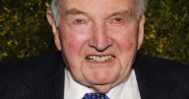 Nova Ordem Mundial em luto. Morre, aos 101 anos, o diabólico David Rockefeller