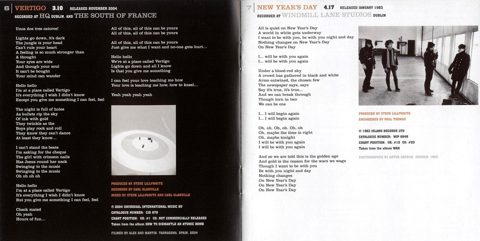 Encartes pop encarte u2 u218 singles uk edition no reino unido assim como tambm no japo e austrlia a coletnea inclui uma faixa a mais o single i will follow ccuart Images