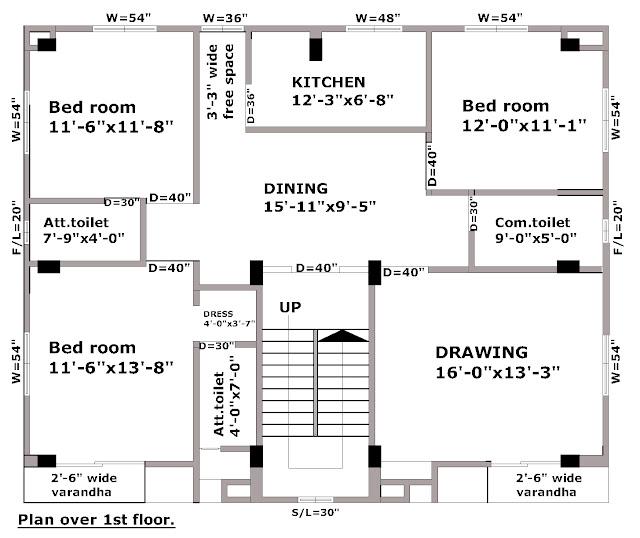4 floors building plans first floor plan