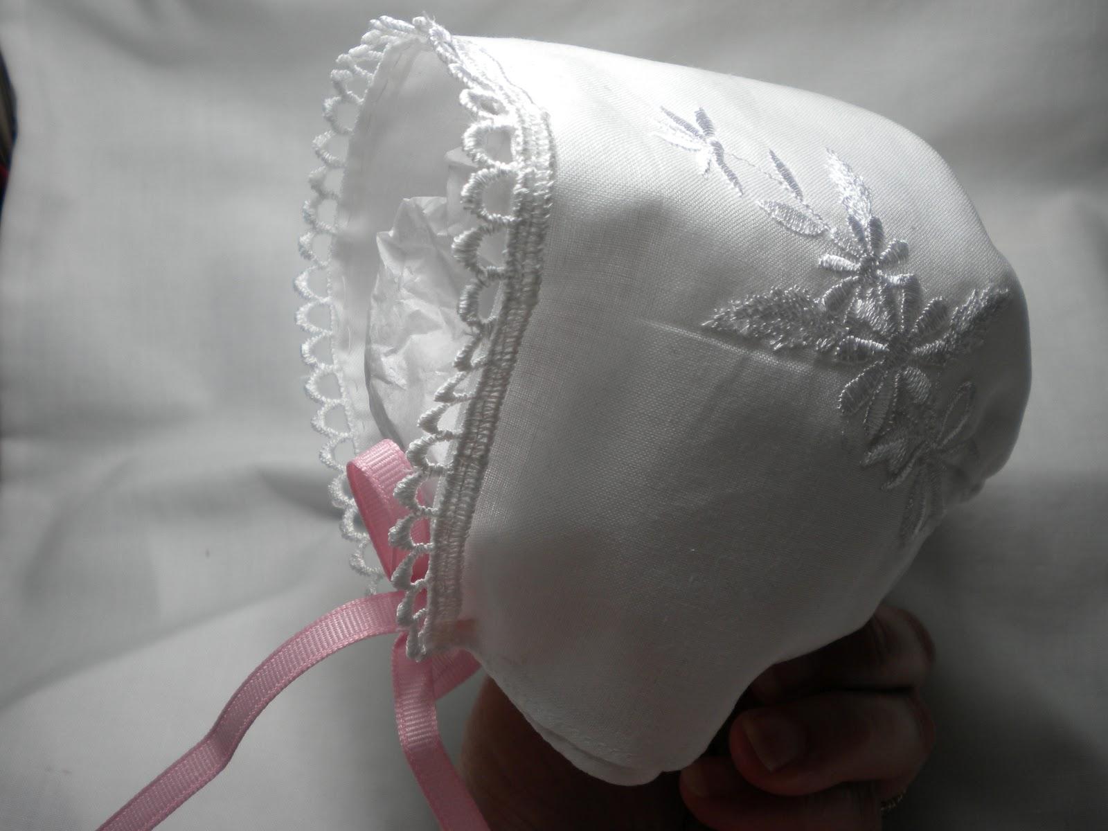 Nothin Fancy Handkerchief Baby Bonnet