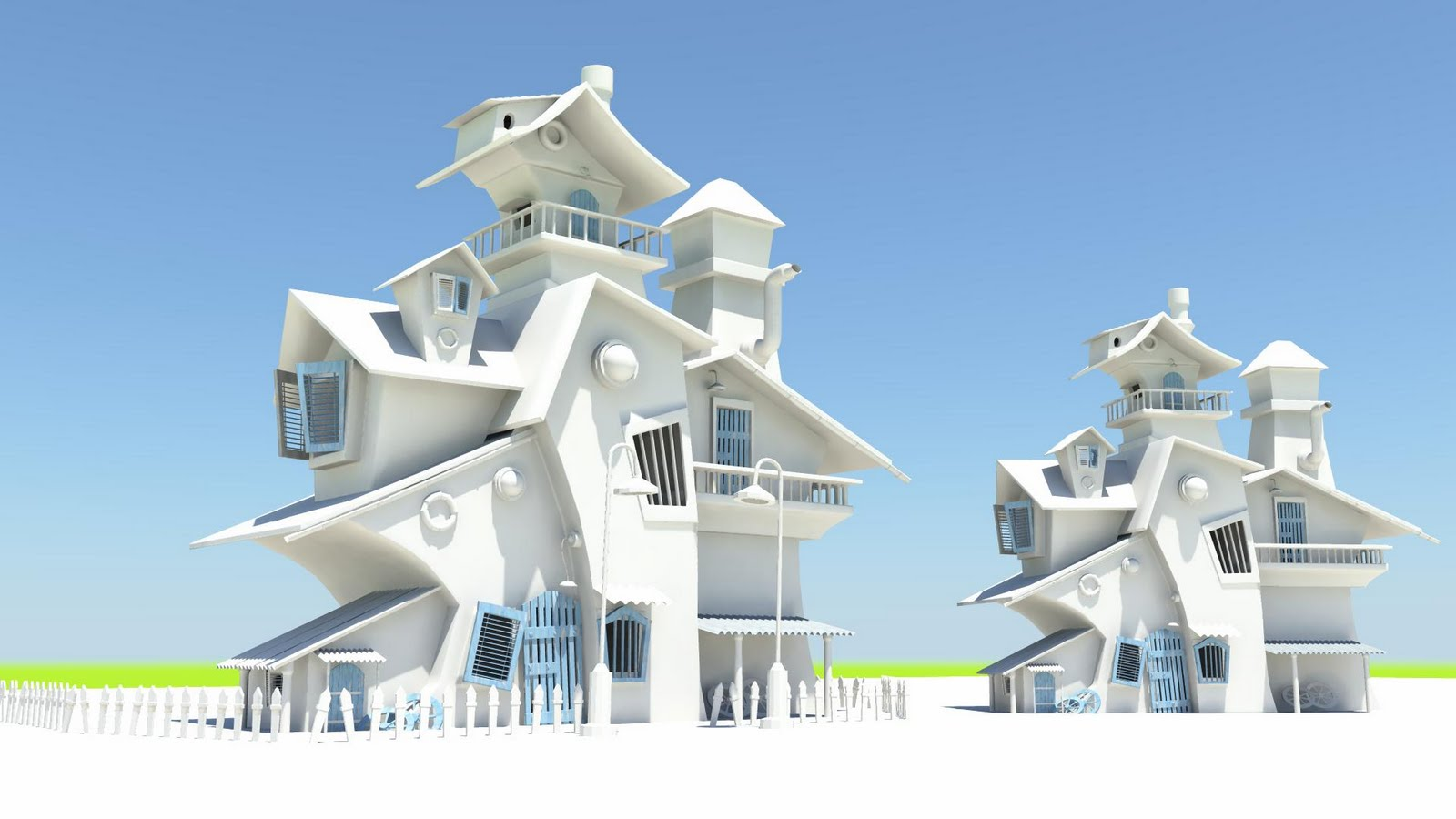 PIKKAR WORKS Maya catoon House model