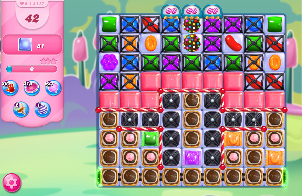 Candy Crush Saga level 8117