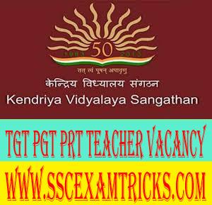 KVS Contractual TGT PGT PRT Teacher Vacancy