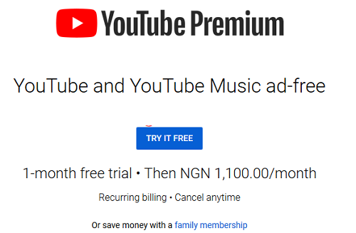 YouTube Premium and Music now Available in Nigeria
