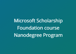 Microsoft Scholarship with Udacity Phase one azure
