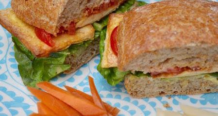 Tofu, Lettuce & Tomato Sandwiches