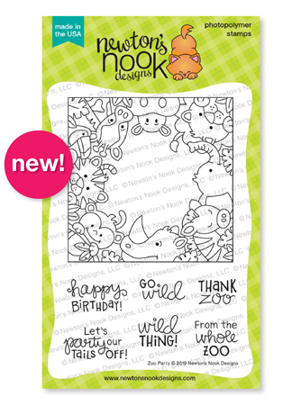 Zoo Party | Zoo Animal Stamp Set by Newton's Nook Designs #newtonsnook