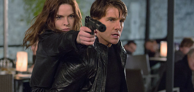Tom Cruis şi Rebecca Ferguson în Mission: Impossible Rogue Nation
