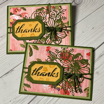 Two cards using the Stampin' Up! Artistically Inked Bundle 155456